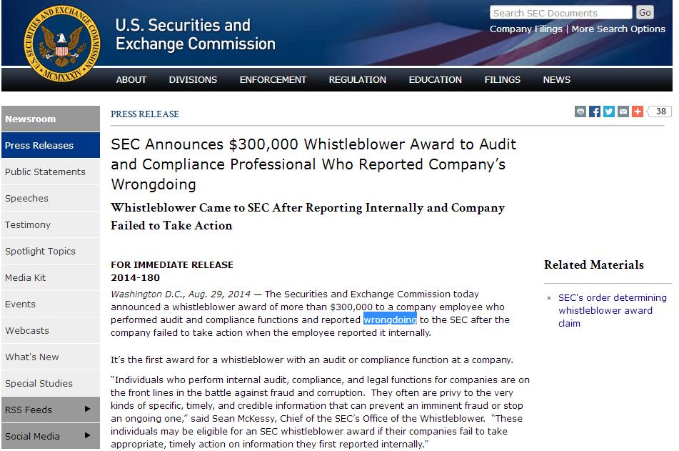 SEC 吹哨者